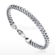 Square Links Chain 316L Stainless Steel Bracelet