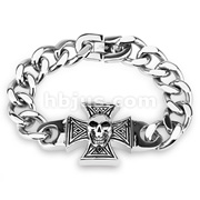 Celtic Cross With Skull 316L Steel Cast Bracelet