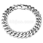 Square Links 316L Stainless Steel Chain Bracelet