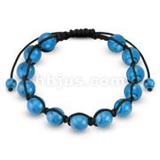 Turquoise Round Beads Bracelet