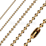 RoseGold Plate 316L Stainless Steel Ball Chain Necklace