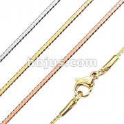 Stainless Steel Solid Curb Chain Necklace with Lobster Clasp