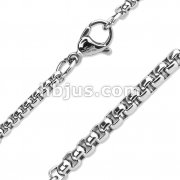 Square Chain Link Necklace 316L Stainless Steel