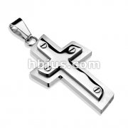Bolted Cross 316L Stainless Steel Pendant