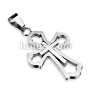 Cross within a Cross 316L Stainless Steel Pendant