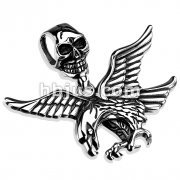 Skull Clasp with Fierce Eagle Stainless Steel Pendant