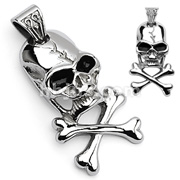 Small Cross Bone 316L Surgical Stainless Steel Pendant