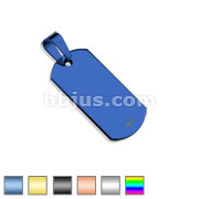 Plain Dog Tag (Small Size) 316L Stainless Steel Pendant
