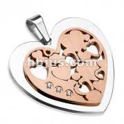 Rose Gold Plated Heart Stainless Steel Pendant