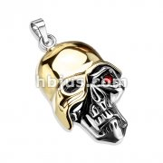 Soldier of Death with Red CZ Eye Stainless Steel Pendant