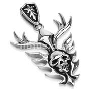 Ablazed Throne of Skull Stainless Steel Pendant