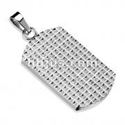 Multi Pyramids Stainless Steel Dog Tag