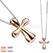 Cross Stainless Steel Pendant Chain Necklace