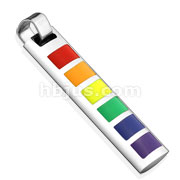 Rainbow Square Enamel filled Stainless Steel Pendant
