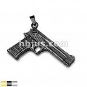 Hand Gun Stainless Steel Pendants