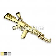 Semi-Auto Rifle Stainless Steel Pendants