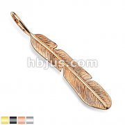 Tribal Feather Stainless Steel Pendants