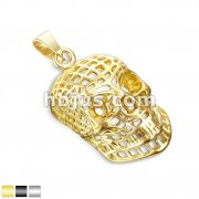 Mesh Skull Stainless Steel Pendants
