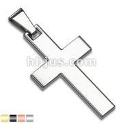 Simple Stainless Steel Cross Pendant