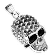 Pyramid Spikes Head Skull Stainless Steel Pendant