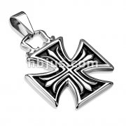 Iron Cross Within Celtic Cross Stainless Steel Pendant
