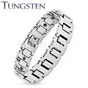 Heavy Width H Link Tungsten Carbide Chain Bracelet