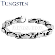 Anchor Link Tungsten Carbide Chain Bracelet