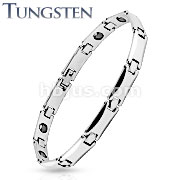 Square Link Tungsten Carbide Chain Bracelet