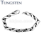 Arrow Chain Tungsten Carbide Bracelet