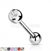 Gem Set Grade 23 Solid Titanium Barbells