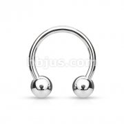 Grade 23 Solid Titanium Horseshoe with Balls
