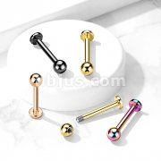 PVD Over Implant Grade Titanium Labret Studs for Chin, Monroe, Ear Cartilage, and More
