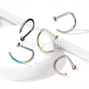 Implant Grade Titanium D Shape Flat End Nose Hoops