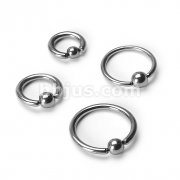 Grade 23 Solid Titanium Captive Bead Ring