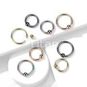 PVD Over Implant Grade Titanium Captive Bead Ring