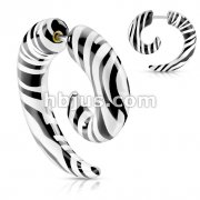 Tiger Printed All Acrylic Spiral Fake Taper