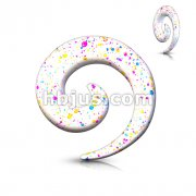 All UV Paint Splatter Printed Spiral Taper