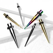 Tapers 316L Surgical Stainless Steel with 2-Black O-Rings