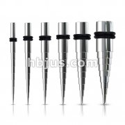 60 Pcs 316L Surgical Steel Step Up Tapers Mixed Size Bulk Pack (10 pcs x 6 Sizes)