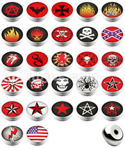 14Gauge Threaded 10pcs Dome Logo Ball Package.