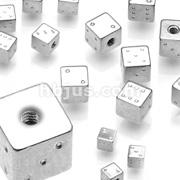 10pcs 316L Threaded Steel Dice