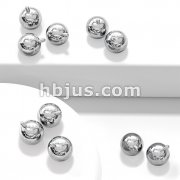 10 Pc 316L Surgical Steel Ball Pack for Internally Threaded Basic Body Jewerly