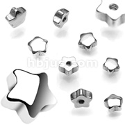 10pc Pack of 14g 6MM Threaded Steel Star