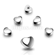 10 Piece Pack of 14g 6mm Threaded Steel Heart Package