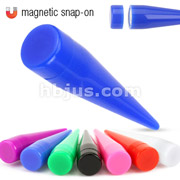 Assorted Colors Acrylic Magnetic Snap-On Fake Tapers (works for non piercings)