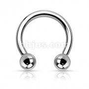 Internally Threaded Implant Grade 23 Solid Titanium Horseshoe/Circular Barbells