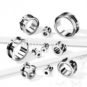 Implant Grade Titanium Double Flared Screw Fit Flesh Tunnel