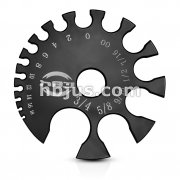 Black Acrylic Gauge Measurement Wheel.