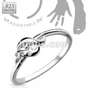 CZ .925 Sterling Silver Toering