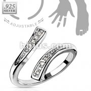 Solitaire CZ .925 Sterling Silver Toering